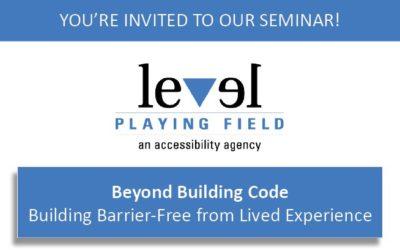 Beyond Code – Barrier-Free Seminar!